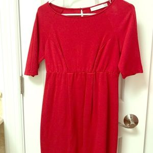 Red Jules and Jim maternity dress.